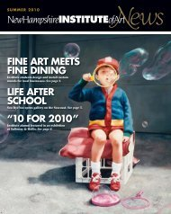 fine art meets fine dining life after school - New Hampshire Institute ...