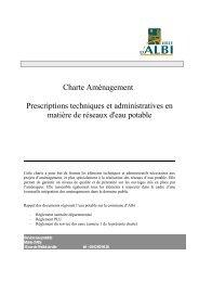 Charte Aménagement Prescriptions techniques et administratives ...