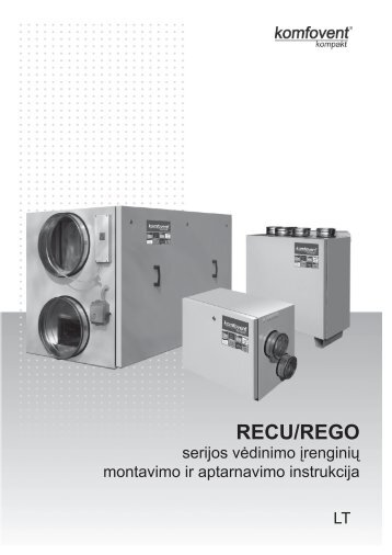 RECU/REGO - Komfovent