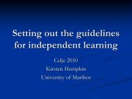 Setting out the guidelines for independent learning