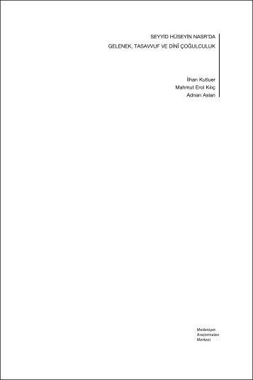 notlar 1 (pdf) - Bilim ve Sanat Vakfı