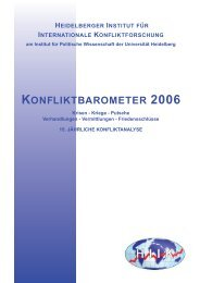 konfliktbarometer 2006 - Heidelberger Institut für Internationale ...