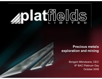 Precious metals exploration and mining - Bacfund.ch