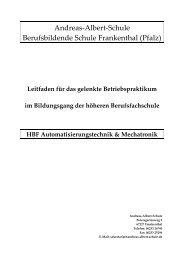 hBF Leitfaden für das gelenkte Praktikum - Andreas-Albert-Schule
