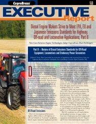 Diesel Engine Makers Strive to Meet EPA, EU and Japanese ...