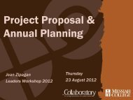 Project Proposal & Annual Planning