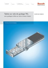 Tables sur rails de guidage TKL - Bosch Rexroth