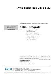 Avis Technique 21/12-22 - SILLIA Energie