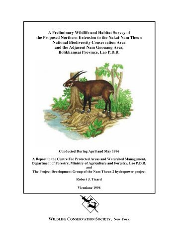 A Preliminary Wildlife and Habitat Survey of the Proposed Northern ...