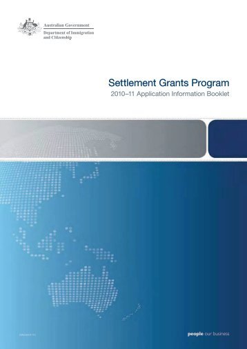 Settlement Grants Program 2010-11 application information booklet