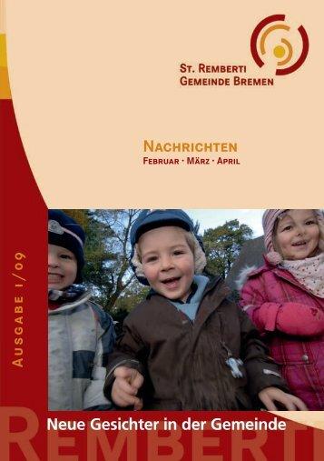 Neue Gesichter in der Gemeinde - St. Remberti Gemeinde Bremen
