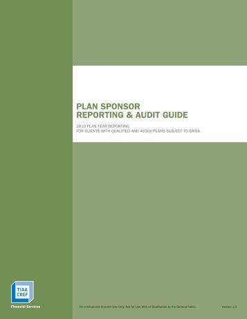 Plan Sponsor Reporting & Audit Guide - TIAA-CREF