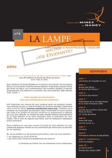 LA LAMPE LAMPE - Ecole des Mines de Nancy