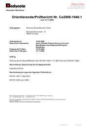 Prüfbericht Bodycote Brandverhalten - Remmers