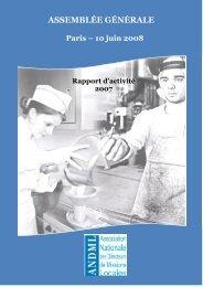 Rapport d'activité 2007 - ANDML