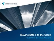 Moving SME's to the Cloud - Minoc
