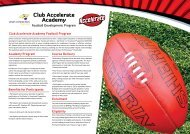 Club Accelerate Academy - Football Development Program