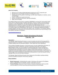 Manager, Digital Advertising Products Oakville, ON - The Weather ...