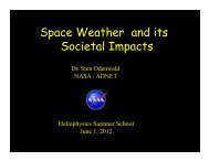 Space Weather and its Societal Impacts - VSP | UCAR Visiting ...
