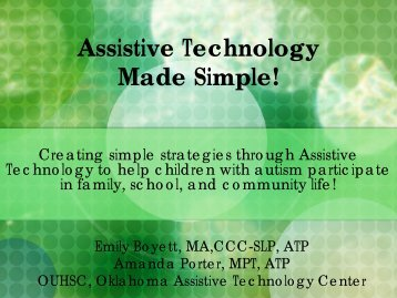 Assistive Technology Made Simple! - Oklahoma Autism Network