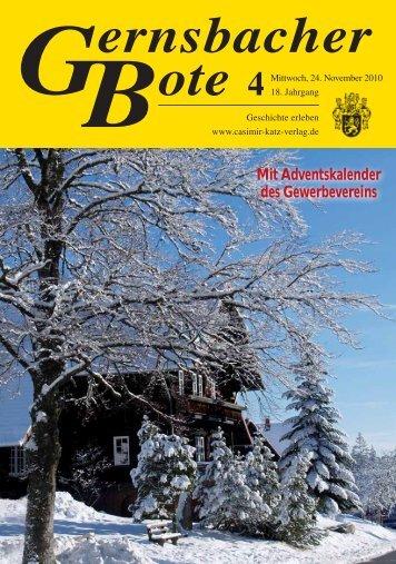 Mit Adventskalender des Gewerbevereins - Casimir Katz Verlag