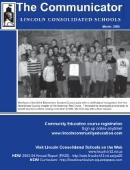 Spring 2005 - Lincoln Consolidated Schools