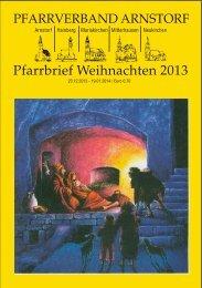 Pfarrbrief Weihnachten 2013 - Arnstorf