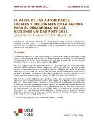 EL PAPEL DE LAS AUTORIDADES LOCALES Y ... - UCLG