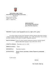 Izvješće o radu Županijskih cesta d.o.o. Split za 2011. godinu s ...