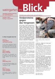 Ausgabe 1/2013 - Weingarten im Blick