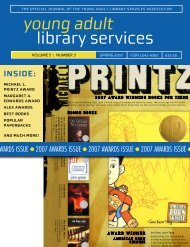 Spring 2007 - YALSA - American Library Association