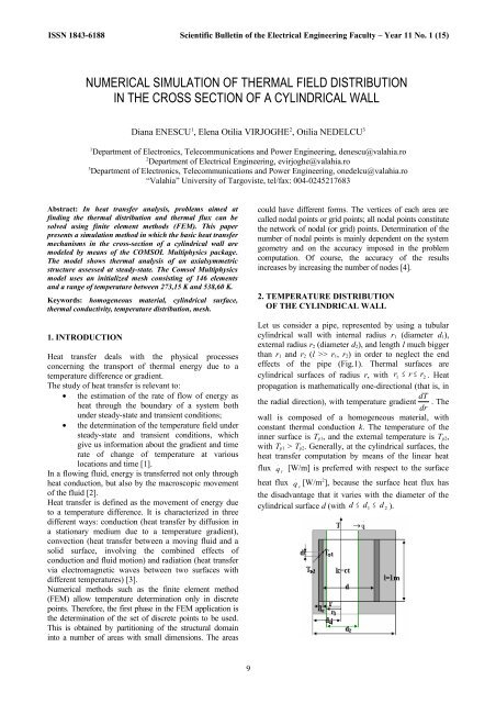 numerical simulation of thermal field distribution in the cross