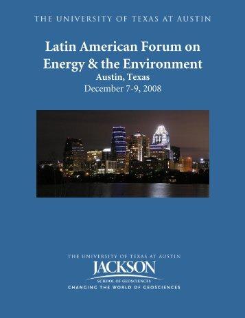 Latin American Forum on Energy & the Environment - Jackson School ...