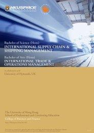 INTERNATIONAL SUPPLY CHAIN & SHIPPING MANAGEMENT