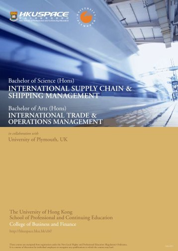 INTERNATIONAL SUPPLY CHAIN & SHIPPING MANAGEMENT