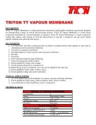 TRITON TT VAPOUR MEMBRANE - Triton Chemicals