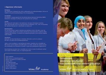 Symposium Onderwijs: een Kunst! Van onderzoek naar ... - NVMO