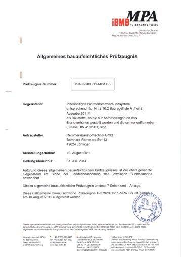 MPA Braunschweig - Remmers