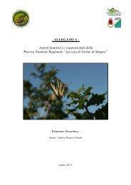 caratteristiche fauna e flora della riserva - Comune di Torino di Sangro