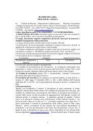 Bando di Gara e disciplinare - Comune di Messina