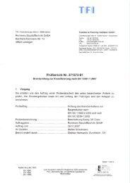 Klassifizierungsbericht zum Brandverhalten - Remmers