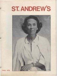 FALL 1978 - Saint Andrew's School Archive - St. Andrew's School
