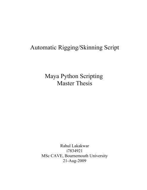 Rigging Scripts Maya