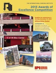 2013 Awards of Excellence Competition - International Parking ...