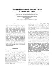 Opinion Extraction, Summarization and Tracking in News and Blog ...