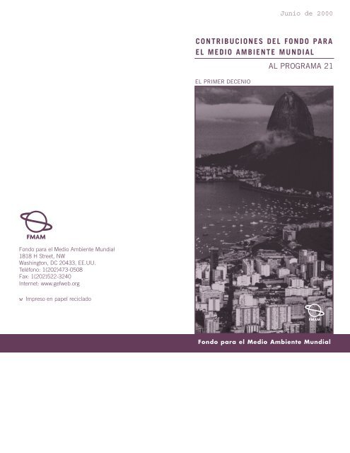 Agenda 21 spanish.final - Global Environment Facility