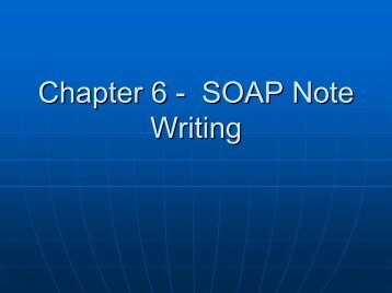 IPPE 5 - SOAP Note Writing (Textbook Chapter 6)