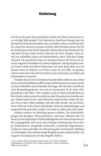 Leseprobe: Einleitung - Buchkatalog