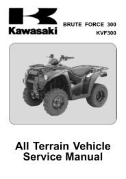 BRUTE FORCE 300 KVF300 All Terrain Vehicle Service Manual