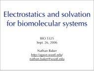 Electrostatics and solvation for biomolecular systems - Jay Ponder Lab